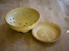 yellow salt berry bowl and plate