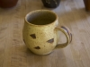 yellow salt and iron oxide mug