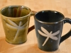 dragonfly tape resist mugs