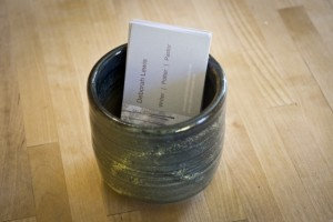tea bowl and cards