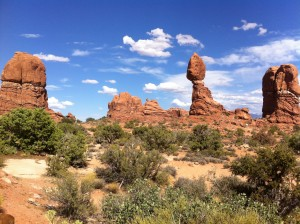 Balanced Rock and others at Arches National Park, Utah