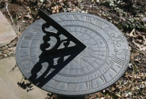 sundial and shadow