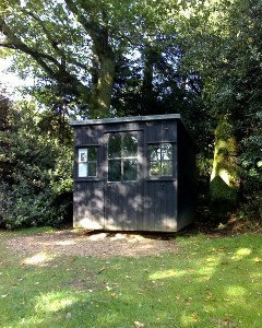 George Bernard Shaw's writing hut in the garden