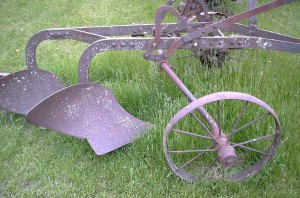 old hand plow