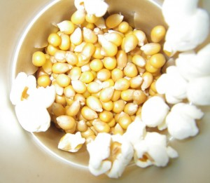 popcorn in the midst of popping