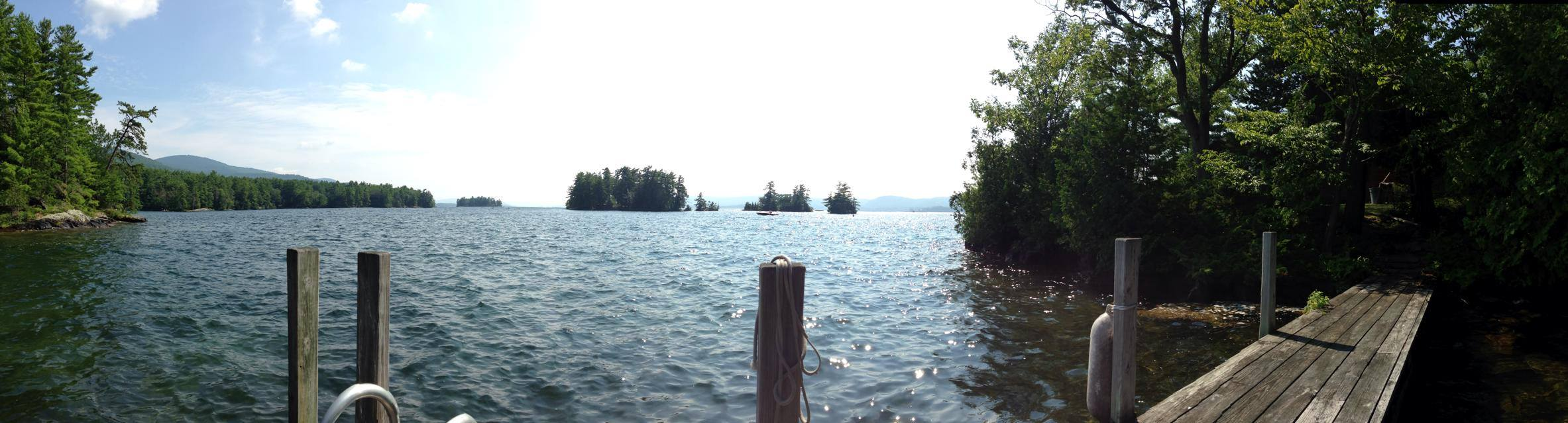 lake george from the little dock_w.sherman.8.14