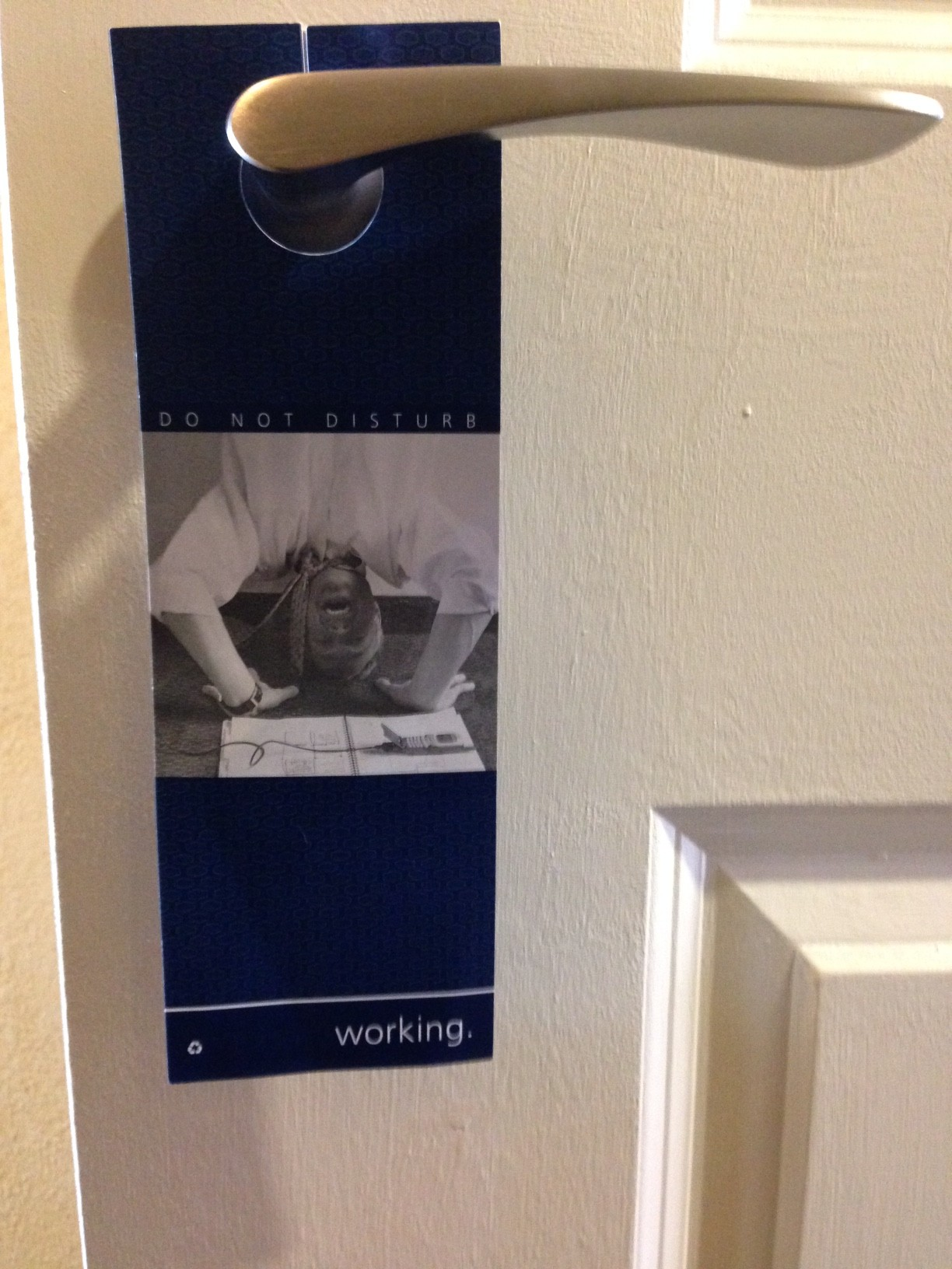 door hanger sign in hotel