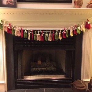 mitten Advent calendar at hearth